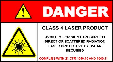 Class 4 Laser Safety Warning