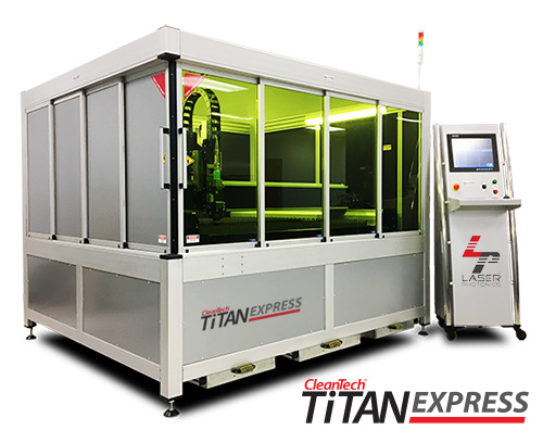 CleanTech Titan Express compact industrial laser cleaning system