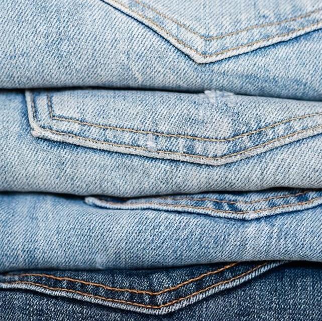 laser distressed jeans
