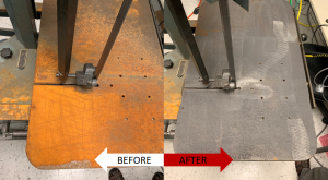 laser cleaning before and after