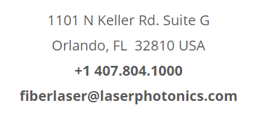 Laser Photonics Corporate Office Address