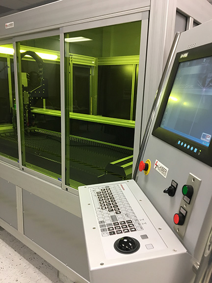 TitanExpress fiber laser cutting Control Panel