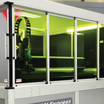 Titan Express Fiber Laser Cutter - class 1 enclosure