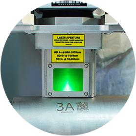 UID marking with a laser