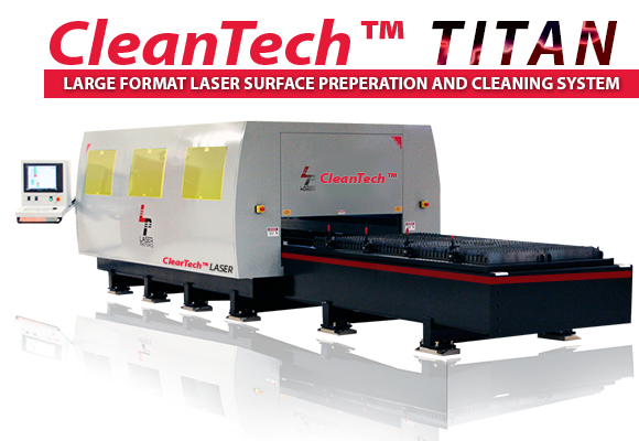 Large format laser cleaning and surface preparation