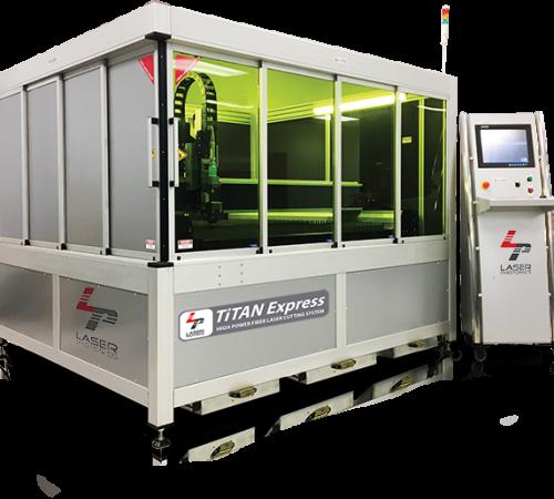 titan express fiber laser cutting