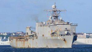 naval ship at sea