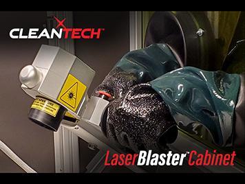 inside laser blasting cabinet