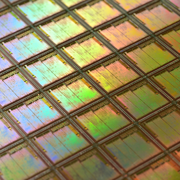 laser cut silicon wafer
